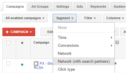 Google Shopping on Search Partners